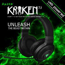Razer Kraken 7.1, Virtual 7.1 Surround Sound USB Gaming Headset, Brand new  in box, Free shipping(China (Mainland))
