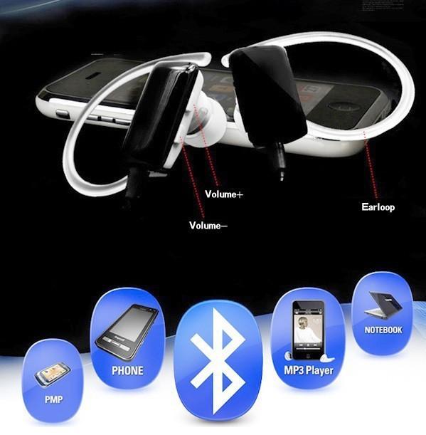Wireless Stereo Music Bluetooth Headset Earphone, Mini Sports Headphone Stereo Mic for cellphones PC apple Samsung htc nokia(China (Mainland))