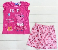 cute Peppa Pig kids girl t shirt+printed shorts sleepsuit pyjamas homewear 5sizes