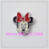 7MM Colorful Minnie Mouse Floating Charms Mouse Pendants For Floating Locket Accessories