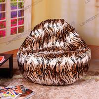 FREE SHIPPING   Leopard print bean bags 100CM diameter  super comfortable  velvet  bean bag covers no filling