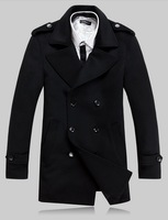 2013 Freeshipping MENS CASUAL DOUBLE BREASTED TRENCH COAT SLIM FIT  458