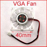 1 Lot PC 12V 2pin 40mm 4cm Square VGA Video Card Cooling Cooler Heatsink Fan