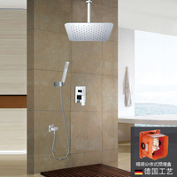Basons ultralarge 304 stainless steel boom-mounted shower concealed split box valve body 8011a
