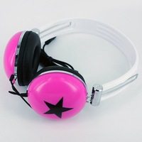 Multicolour headset earphones trend j large earphones mp3 fashion mobile phone computer headset