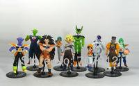 10x Dragon Ball Z GT Action Figure Japanese Anime Figures Toys CELL/FREEZA/Goku  10CM PVC 10PCS/SET Free Shipping