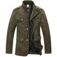 Free shipping best selling casual autumn winter jacket coat for men khaki/army green L/XL/XXL/3XL/4XL/5XL/6XL