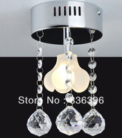Modern 1 Glass Flowers Crystal Ceiling Light Chandelier Pendant Lamp Lighting G4