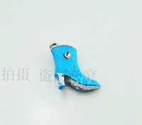 El0266 high-heeled shoes charm metal pendant keychain