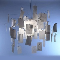 "Dia, 120cm  47"" - Zettel'z 5 Paper Zettel Ceiling Light Pendant Lamp Chandelier Lighting Steel White"