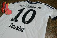 A+++ Thai Quality 13/14 Germany Schalke 04 2014 New White Draxler 10# Soccer Jersey Thailand Sport Wear Football Shirt