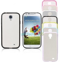 New Hybrid TPU Frosted Transparent Case Cover for Samsung Galaxy S4 i9500 PY5#