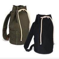 Shoulders outdoor canvas bucket type bag