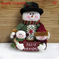 "10"" Santa Table Dcorations Home Decor  Xmas Decor Snowman FELIZ NAVIDAD Merry Christmas Tree Ornaments Gifts QY36163B"