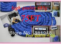 High Quality Blue Color 75FT Rubber Expandable Hose for Garden/Car 100pcs/lot