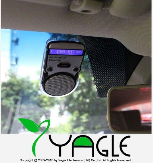 Free Shipping, Solar Powered Bluetooth Car Kit Handsfree call LCD Display , Dropshipping(China (Mainland))
