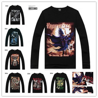 NEW HOPE Free shipping Wholesale 100% Cotton Brand Men Clothing  Unique Skull Series 3D Shirt, Long Sleeve Fashion Sport Man XXL