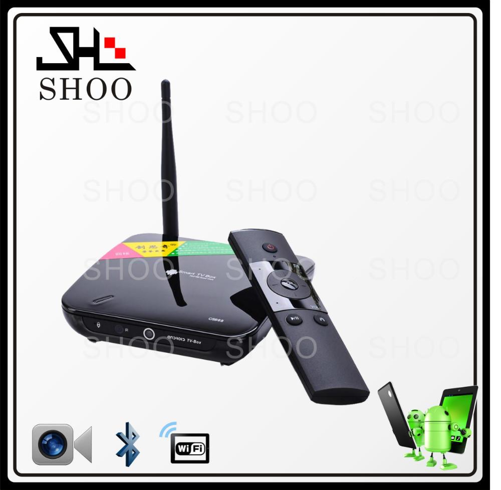 رباعية النواة 1.8 جيجا هرتز rockchip rk3188 cs968 الروبوت الذكية مربع التلفزيون رباعية النواة 1.8 جيجا هرتز دعم 3d لعبة(China (Mainland))