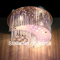 moon  crystal chandeliers 3 PCS LED bulb