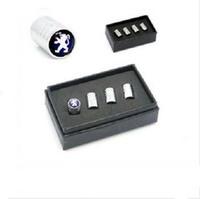 Free shipping 4PCS Set Car Wheel Tire Valve Caps, Metal Tyre Valve stems,car logo Vale Cas for peugeot