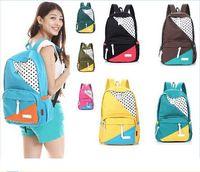 Fashion Girl Simple Casual Canvas Shoulder Backpack School Bag Campus Bookbag