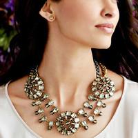 Fashion vintage gem necklace short design necklace accessories female