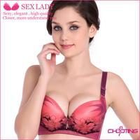 deep v Bra push up bras nursing luxury brand cotton soft underwear bra gather adjustable straps special for beauty salons noble