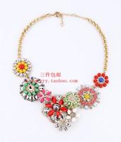 Accessories fashion gem flower necklace short necklace accessories female