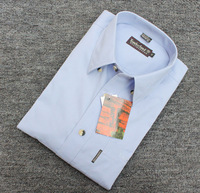 100% cotton easy care shirt business casual shirt men's plus size shirt plus size short-sleeve shirt
