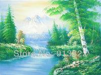Free shipping Oil Paintings Handmade High Q. Fashion art Green Spring wall decoration