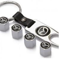 MAZDA Mazda car logo keychain new valve cap silver models
