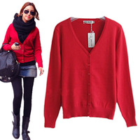 Plus size autumn 2 all-match small V-neck quality product Women cotton cardigan female sweater outerwear s-xx