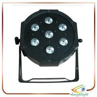 7pcs 15W DMX 5IN1 RGBWA Flat Par LED Light