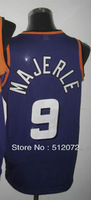 #9 Dan Majerle Men's Authentic Road Purple Throwback Basketball Jersey