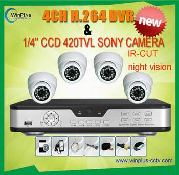 Real time Full 960H 420TVL CCD 4ch Kit CCTV DVR IR Weatherproof Security Camera Surveillance Video System Home DIY CCTV systems