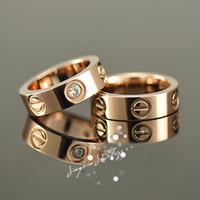 Titanium steel 18 k rose gold gold wedding rings tail ring free shipping