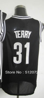 #31 Jason Terry Men's Authentic Road Black Basketball Jersey