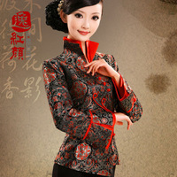 Impression   Shanghai 2013 China Wind Kam Hay Miss Tang Zhuang brocade dress autumn long-sleeved shirt