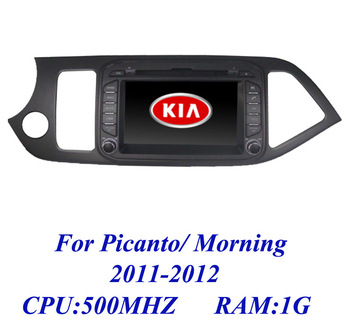 Russian Car DVD for Kia picanto morning 2011-2012 2 din Car Radio with GPS USB/SD Player IPOD TV 3G