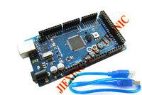 Freeshipping ! Mega 2560 R3 Mega2560 REV3 ATmega2560-16AU Board + USB Cable compatible for arduino