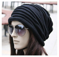 Hot Sal Korean version of popular folding cap,Winter hat,Fashionable men and women knitting wool cap,Free shipping.