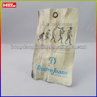 China cheap jeans brilliant hangtag /label