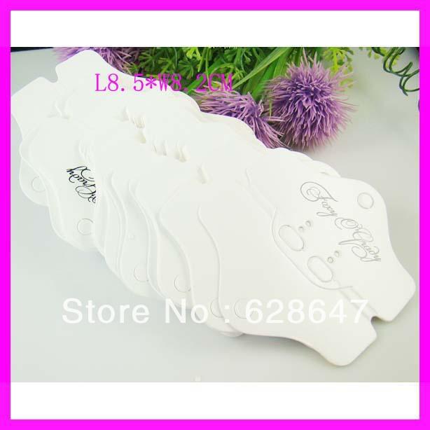 Free shipping customized hanging necklace display cards white paper necklace display cards.moq 1000pcs(China (Mainland))