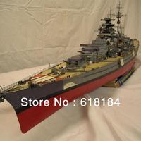 Free shipment diy paper model warship 1 meter Long 1:250 high quliaty Super Precision German schlachtschiff Bismarck battleship