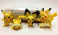 Pokemon Monsters Pikachu Anime Cute Pendant Figure Charms 4pcs