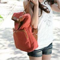 Girl's Vintage Canvas Rucksack Satchel Travel Schoolbag Bookbag Backpack