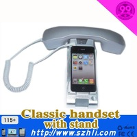 Radiation protection Noise cancelling retro style mobile phone handset set with metal stand on big sale