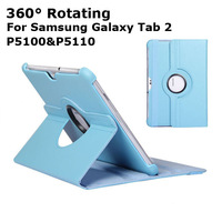 Hot Selling 360 Degree Rotating Leather Case Cover for Samsung Galaxy Tab 2 10.1 P5100 P5110 Drop Shipping + Wholesale