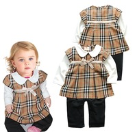 Hot Baby Clothing long sleeve  one-pieces Girl Dress Princess Dress Cotton Turn-Down Collar  Jumpsuit Romper Dress