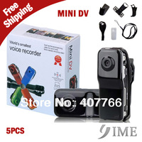 5pcs Retail Package, MD80+Bracket+Clip,Black Sports Video Camera Mini DVR Camera & Mini DV,Free Drop Shipping